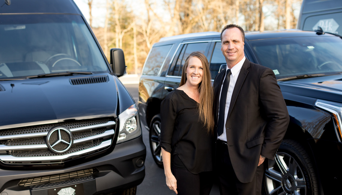 Mike and Kelly Sanders, owners of 24k Rides
