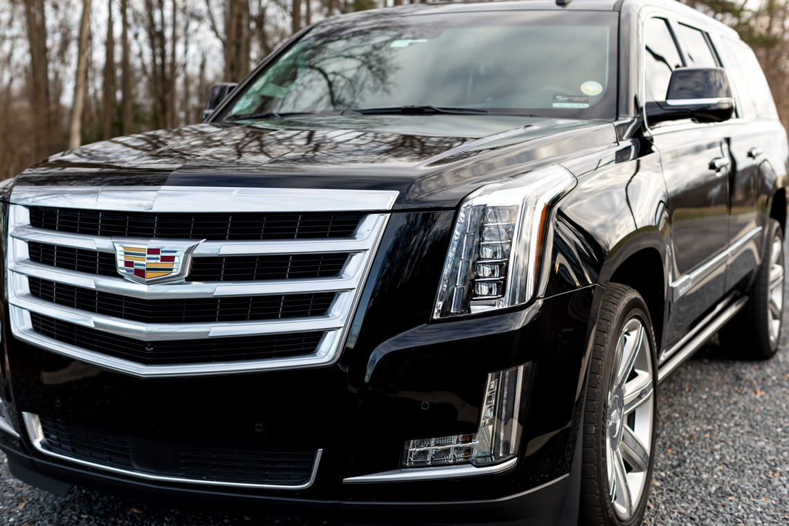 Escalade ESV delivers luxury transportation to customers of 24k Rides in Fort Mill and Charlotte