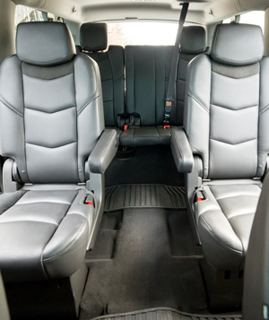 Interior bucket seats in 24k Rides Escalade serving Fort Mill and Charlotte