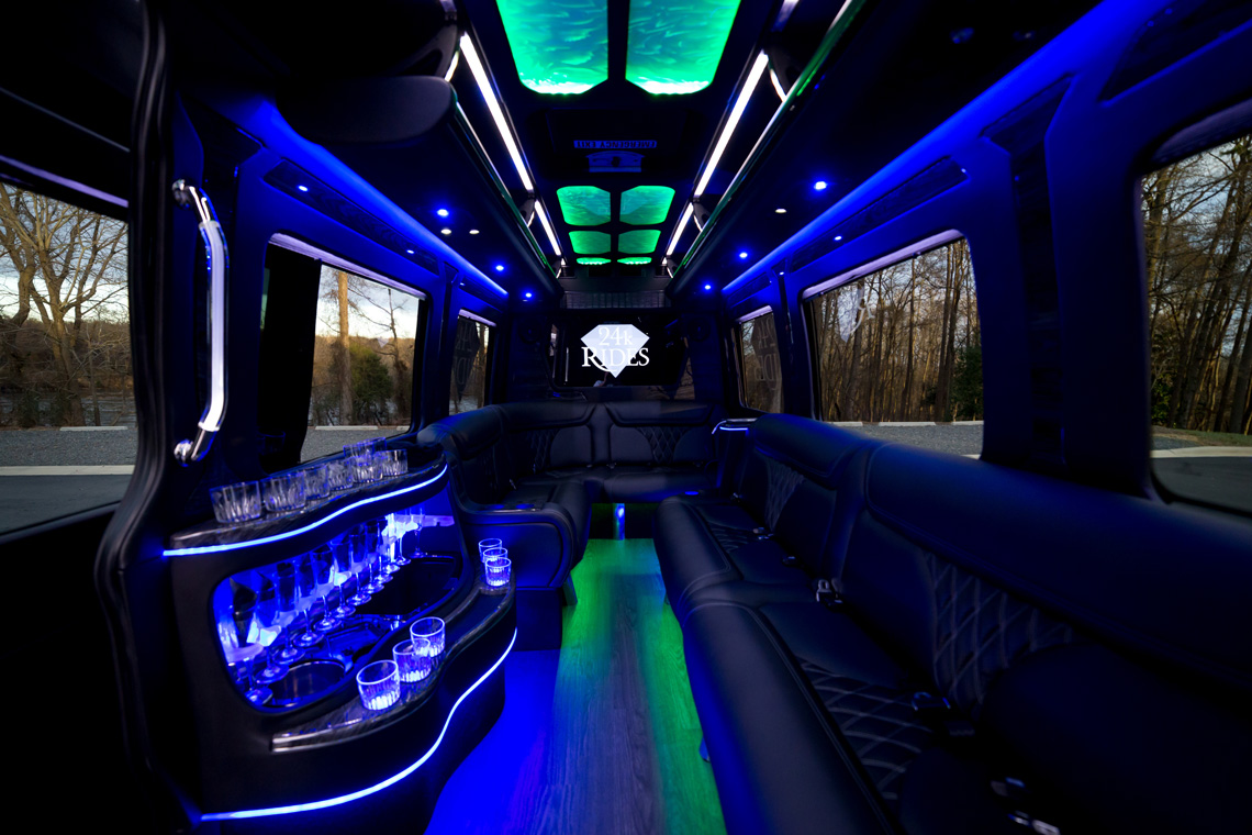 Interior of Mercedes-Benz Sprinter Limo